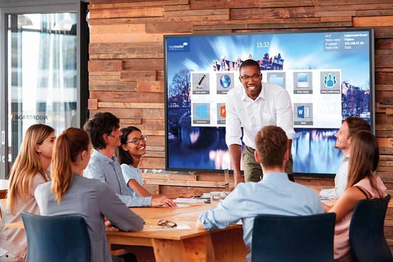 interaktiv arbeiten im team-meeting