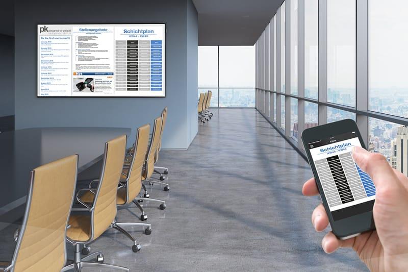 mitarbeiterkommunikation direkt auf das smartphone